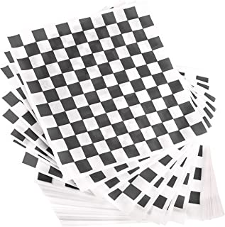 Avant Grub Deli Paper 300 Pack. Turn Your Backyard Cookout Party into a Race Day Event with Black And White Checkered Food Wrapping Papers. Grease-Resistant 12x12 Sandwich Wrap Prevents Food Stains
