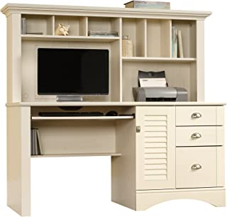 Sauder Harbor View Computer Desk with Hutch, L: 62.21