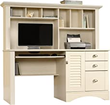 Sauder Harbor View Computer Desk with Hutch, L: 62.21