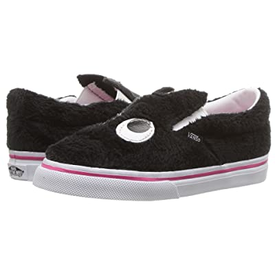 Vans Kids Slip-On Friend (Infant/Toddler) ((Party Fur) Black/True White) Girls Shoes