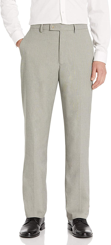 Charlotte Mall Haggar Men's Expandomatic free Stretch Dress Plain-Front Classic-Fit