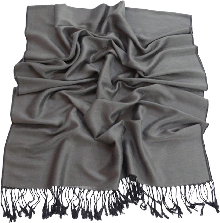 Grey Two Tone Design Shawl Scarf Wrap Stole Pashmina CJ Apparel NEW