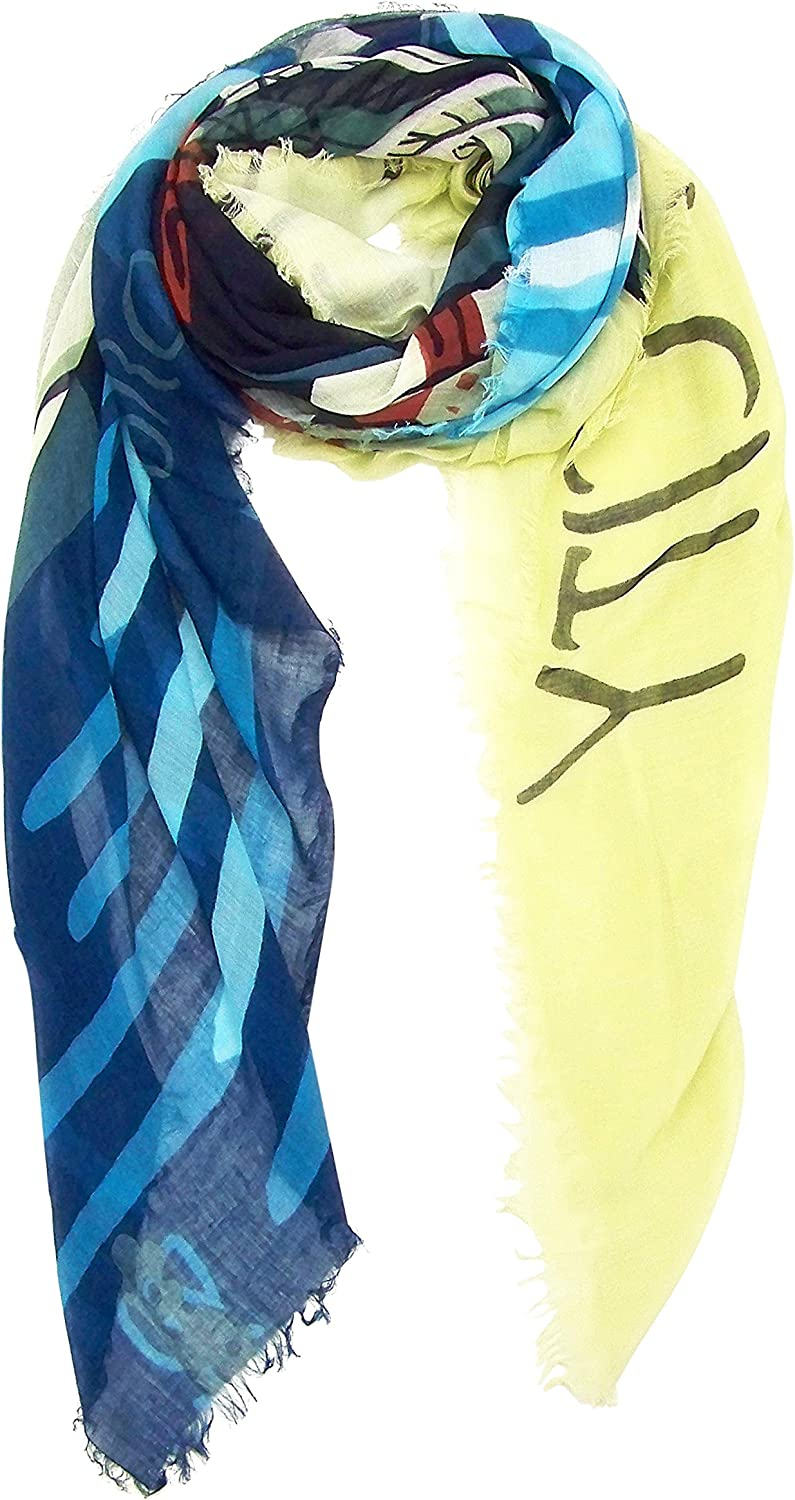 bluee Pacific Brooklyn New York Cashmere and Silk Scarf