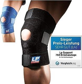 LP Support 758 Open Patella Knee Support, Black