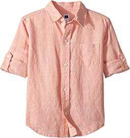 Janie and Jack Roll Sleeve Button-Up Shirt (Toddler/Little Kids/Big Kids)