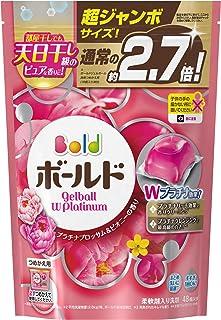 ボールド 洗濯洗剤 ジェルボールWプラチナ プラチナブロッサム&ピオニーの香り 詰め替え 超ジャンボサイズ 940g(48個入)