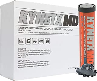 KYNETX 3% Moly Lithium Complex Grease, NLGI Grade 2 (MD LXM27), 14 Oz Cartridge, 10 Pack