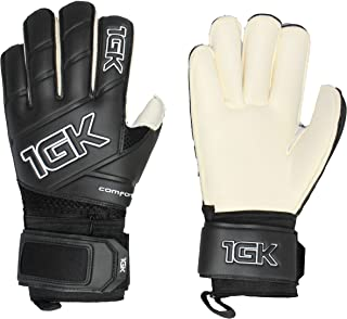 1GK Tribal SP + Fingersave Goalkeeper Glove - Customizable and Removeable Professional Finger Protection (Sizes 6-11) Roll Cut Design for Youth (Boys & Girls) and Adult (Men & Women)