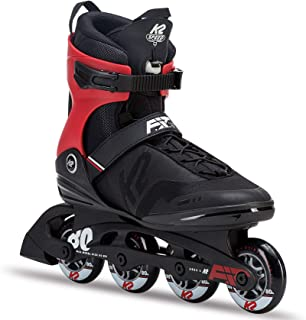 K2 Skate Men's F.I.T. 80 Pro Inline Skate,  Black Red