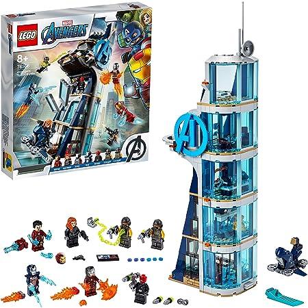 LEGO76166MarvelAvengersTowerBattleSetwithIronMan,BlackWidow&RedSkull