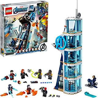 LEGO 76166 Marvel Avengers Tower Battle Set with Iron Man, Black Widow & Red Skull