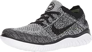 Women's Free Rn Flyknit 2018 Running Shoe 9 - White/Black