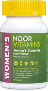 Noorvitamins Womens Multivitamin & Mineral I Once Daily Vitamin Supplement I Vegan Formula to Support Energy, Immunity, Me...