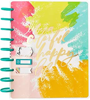 The Happy Planner 12 Month Box Kit - Live A Happy Colorful Life Planner Kit - 1 Twelve Month Undated Classic Planner - 552 Stickers - 1 Bookmark - 3 Sticky Note Pads - 12 Dividers