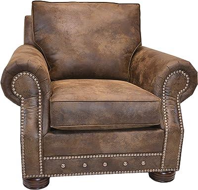 Beam & Oak Magnus Southwestern Arm Chair, Brown