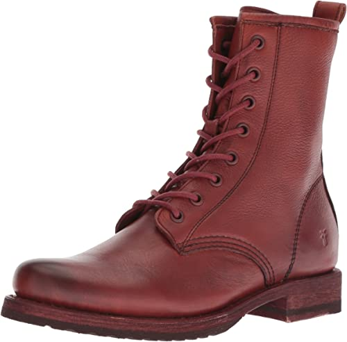 FRYE damen& 039;s Veronica Combat Ankle Stiefel, rot Clay, 11 M US