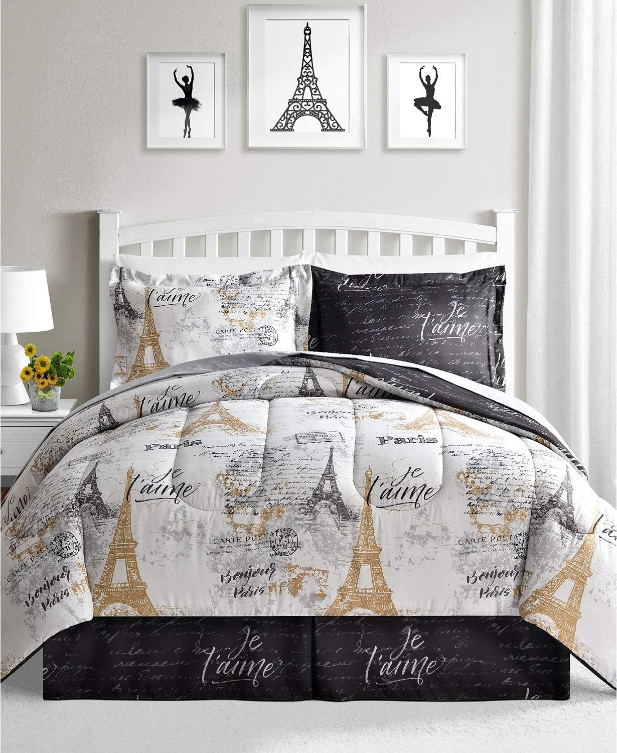Fairfield Square Collection Fashionable Paris Gold 8 King California Some reservation Piece S