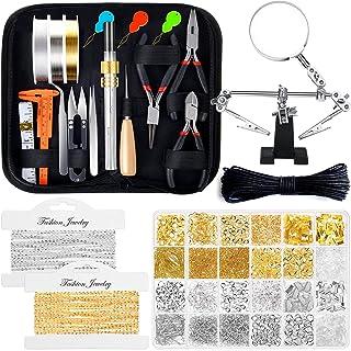 Jewelry Making Kits for Adults, Shynek Jewelry Making Supplies Kit with Jewelry Making Tools, Earring Charms, Jewelry Wire...