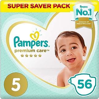 Pampers Premium Care, Size 5, Junior, 11-16 kg, Super Saver Pack, 56 Diapers