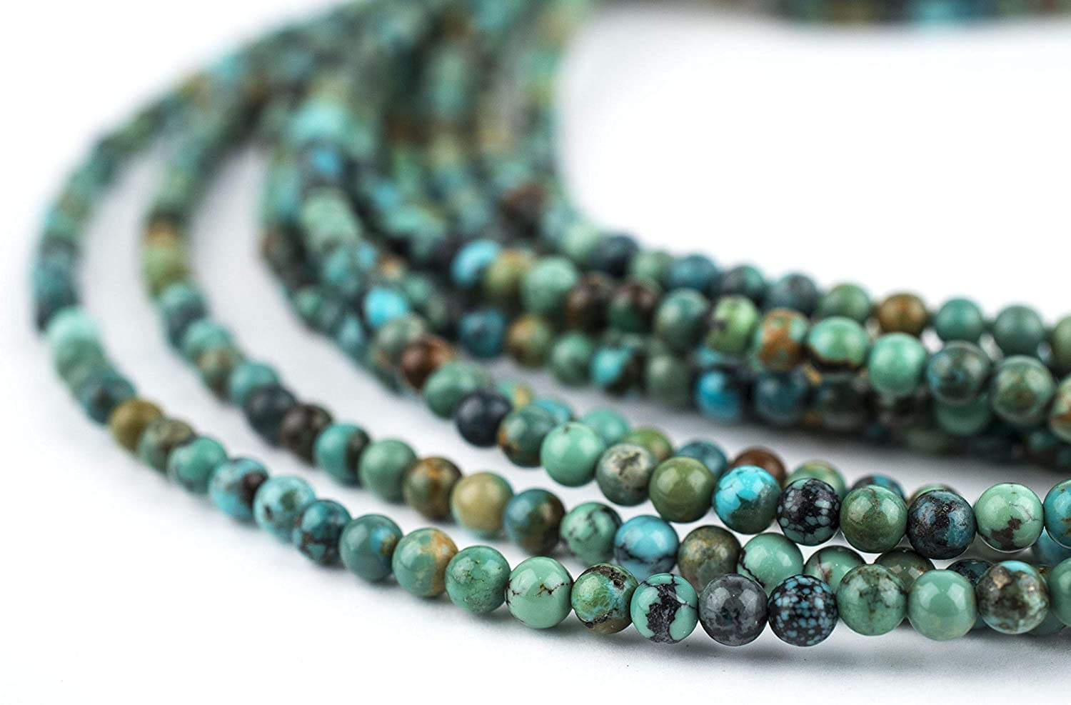 Natural Turquoise Gemstone Pebble Beads 140-6x4mm  Jewelry Supplies  SKU-GM-25-T