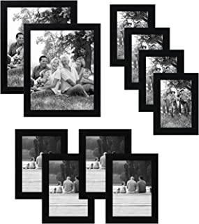 29e407565d9 Americanflat 10-Piece Multi Pack Black Frames  Includes Two 8x10 Frames