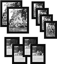 مجموعة اطارات الصور السوداء من 10 قطع من اميريكان فلات| تتضمن المقاسات 8 × 10 و5 × 7 و4 × 6. زجاج مقاوم للكسر تتضمن تجهيزا...