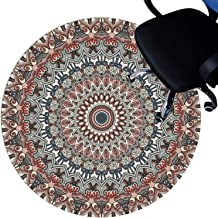 Office Chair mats for Hard Floors, Floor Protector Mats, Short Pile Surface, Non-Slip Bottom, Scratch-Resistant Circle Rug...