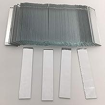 """RUINUO 3/8"""" x 2"""" rechthoekige spiegel mozaïek tegels ambachtelijke spiegels 100 stuks (3/8"""" x 2"""")"""