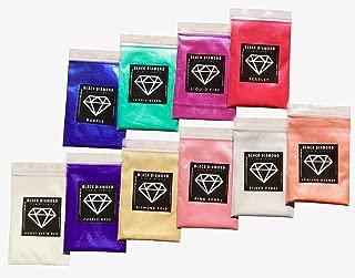 Variety Pack 3 (10 Colors) Mica Powder Pure, 2TONE Series Variety Pigment Packs (Epoxy,Paint,Color,Art) Black Diamond Pigments