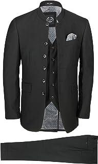 """Xposed Mens Plain Black Black Black Suit 46"""" 36"""""""