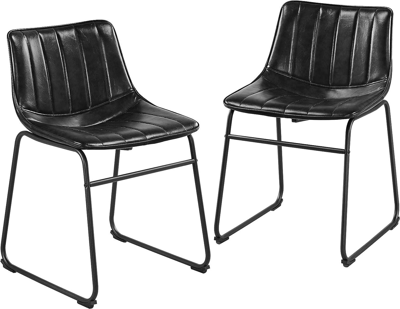 Yaheetech Bar Regular discount Stools 18'' PU Austin Mall High Fashionable Chairs Leather Pub
