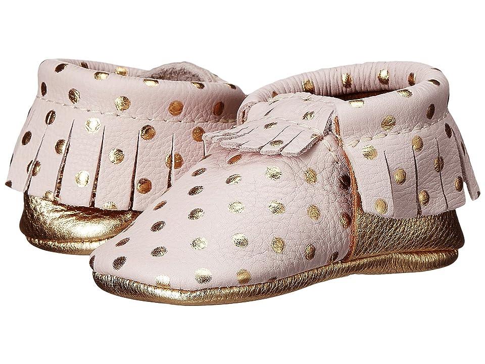 Freshly Picked Soft Sole Moccasins (Infant/Toddler) (Heirloom in Blush/Gold) Girls Shoes