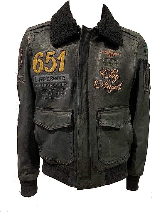 Giubbotto di pelle pn917pl, da uomo, giacca, giubbino aeronautica militare