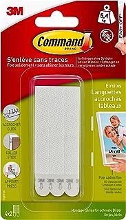 Command Languettes pour Accrochage de Tableaux avec Bords Etroits, 4 x 2 Languettes Etroites, 5,4kg