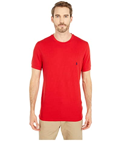 Polo Ralph Lauren Waffle Short Sleeve Crew (RL2000 Red/Cruise Navy Pony Player) Men