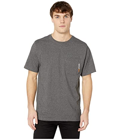 Timberland PRO Base Plate Blended Short Sleeve T-Shirt (Dark Charcoal Heather) Men