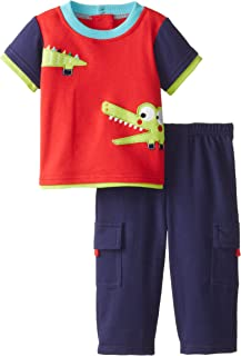 NUBY Baby Boys' 2 Piece Pant Set Baby Alligator