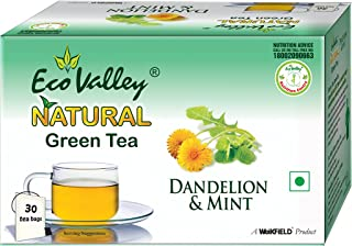 Eco Valley Natural Green Tea, Dandelion and Mint, 30 Tea Bags