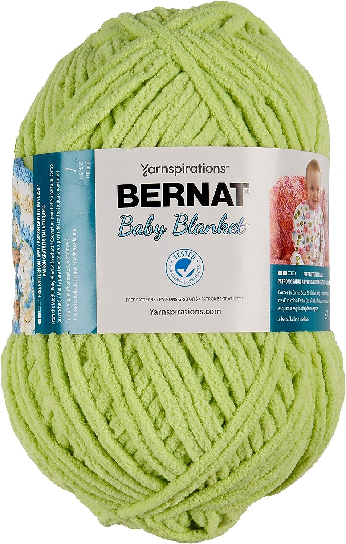 Bernat Baby Spring new work one after another Philadelphia Mall Blanket Yarn 300g 10.5 Lime Lemon oz