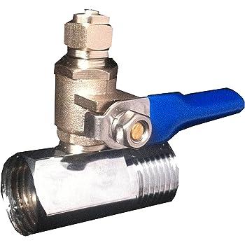 Ósmosis inversa agua fría alimentación conexión a válvula ajuste 0,64 cm tubo para lldpe: Amazon.es: Bricolaje y herramientas