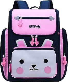 Backpack for Girls, Waterproof Bagpack Pink School Bag Cute Bookbag for Kids 6-10 (Navy + Pink, Small)