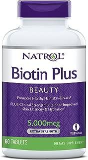 Natrol Biotin Plus Lutein Tablets, 5,000mcg, 60 Count
