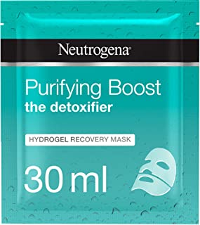 Neutrogena Hydrating Face Mask Sheet, The Detoxifier, Purifying Boost Hydrogel Recovery, 30ml