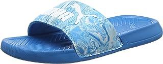 Puma Unisex Adults' Popcat Marble Slide Sandals, Blue (Blue Danube-Puma White 01), 5 UK