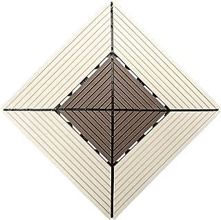 Samincom Interlocking Deck Tiles for Outdoor Patio Garden Deck Poolside, Water Resistant Flooring Tiles Indoor Outdoor, 12