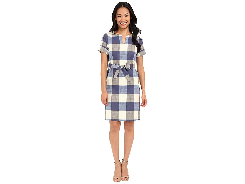 Pendleton Petite Alex Dress (Novelty Check Wool Linen) Women