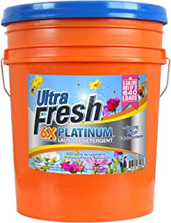 Ultra Fresh UFPTTDYL Platinum Original Blue Plus Fabric Softener, HE, 5 gal, 640 oz