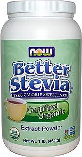 Now Better Stevia Organic Sweetener, 1 lb.