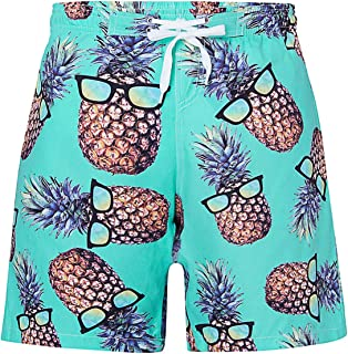 UNICOMIDEA Boys Beach Shorts Quick Dry Beach Swim Trunks Kids Swimsuit Surf Shorts with Mesh Lining for 5-14 Years