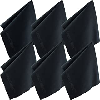 SecurOMax Black Microfiber Cleaning Cloth 12x12 Inch, 6 Pack